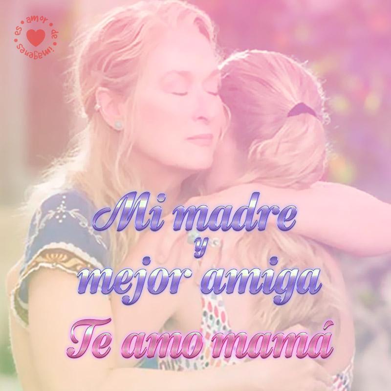 Abrazo de madre e hija día de la madre