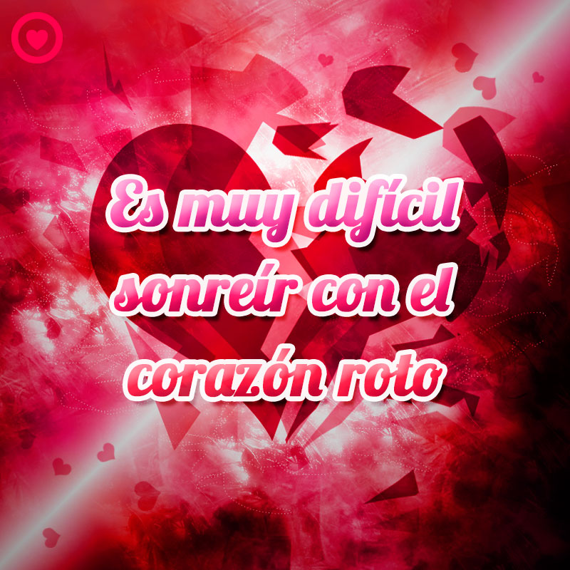 frase triste de amor con imagen de corazón roto