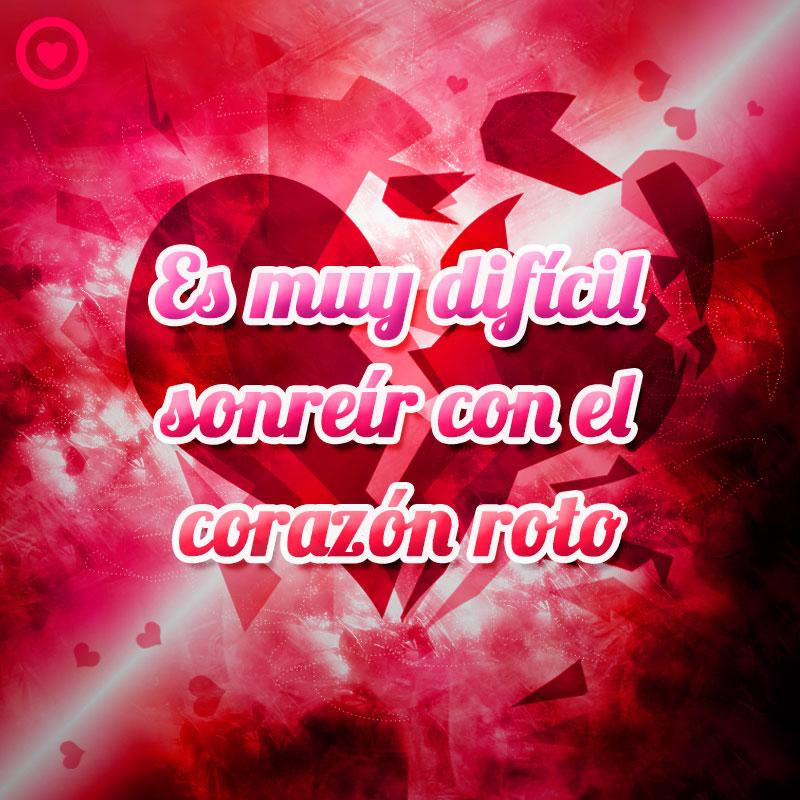 Frase Triste De Amor Con Imagen De Corazon Roto