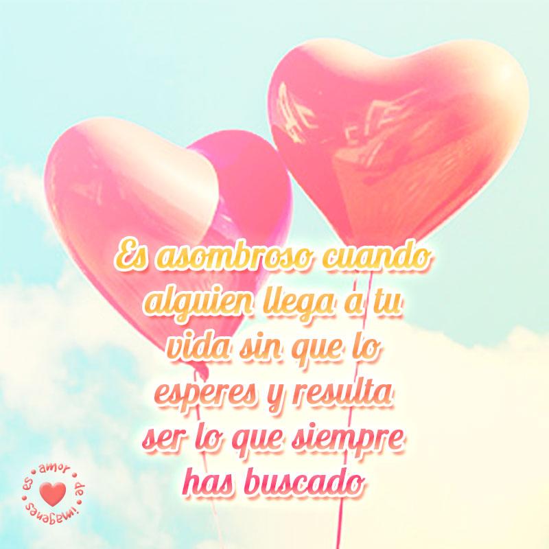globos de corazones con frase de amor
