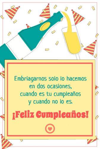 gracioso mensaje de cumpleaños