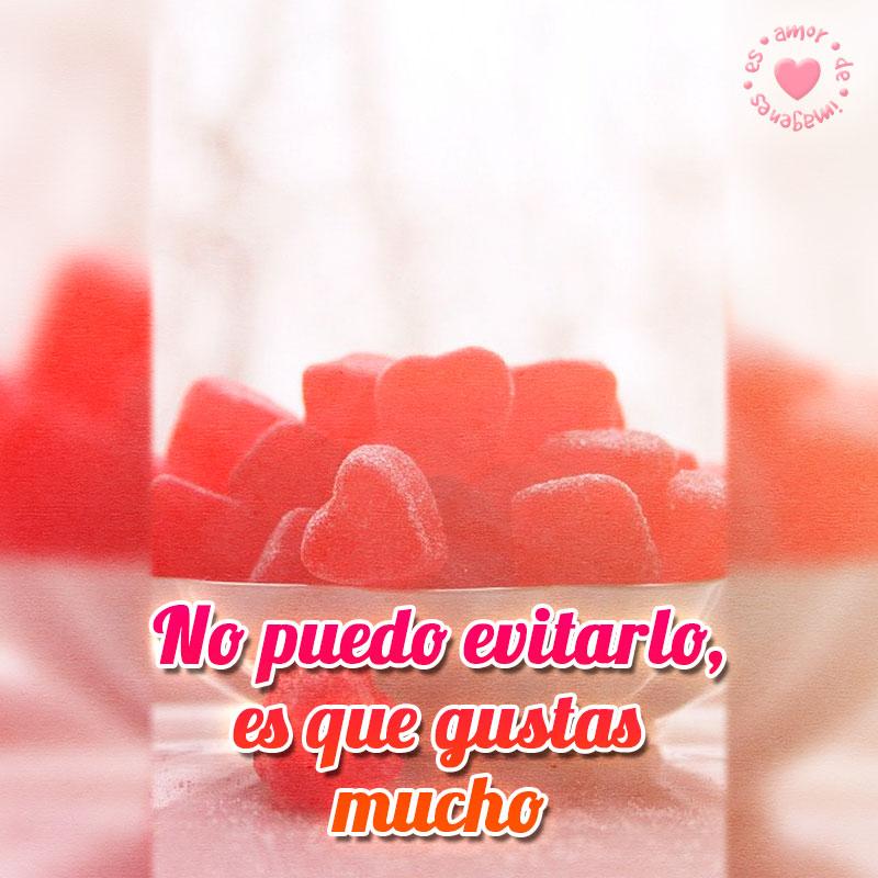 imagen de amor con caramelos corazones