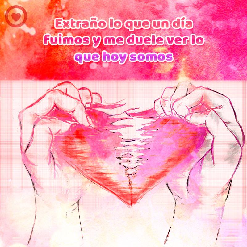 Imagen De Corazon Destrozado Con Frase Triste De Amor