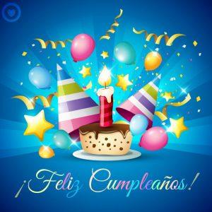 imagen de cumpleaños feliz pastel