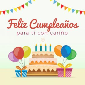 imagen de feliz cumpleaños con torta
