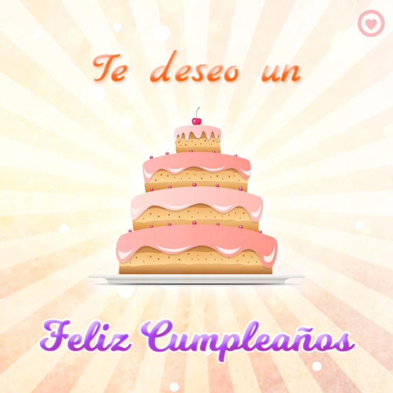 imagen de pastel feliz cumpleaños