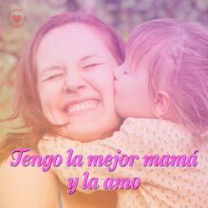 feliz dia de la madre foto con frase