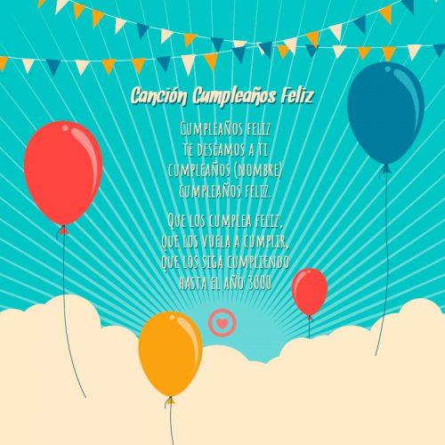 letra de la cancion cumpleaños feliz