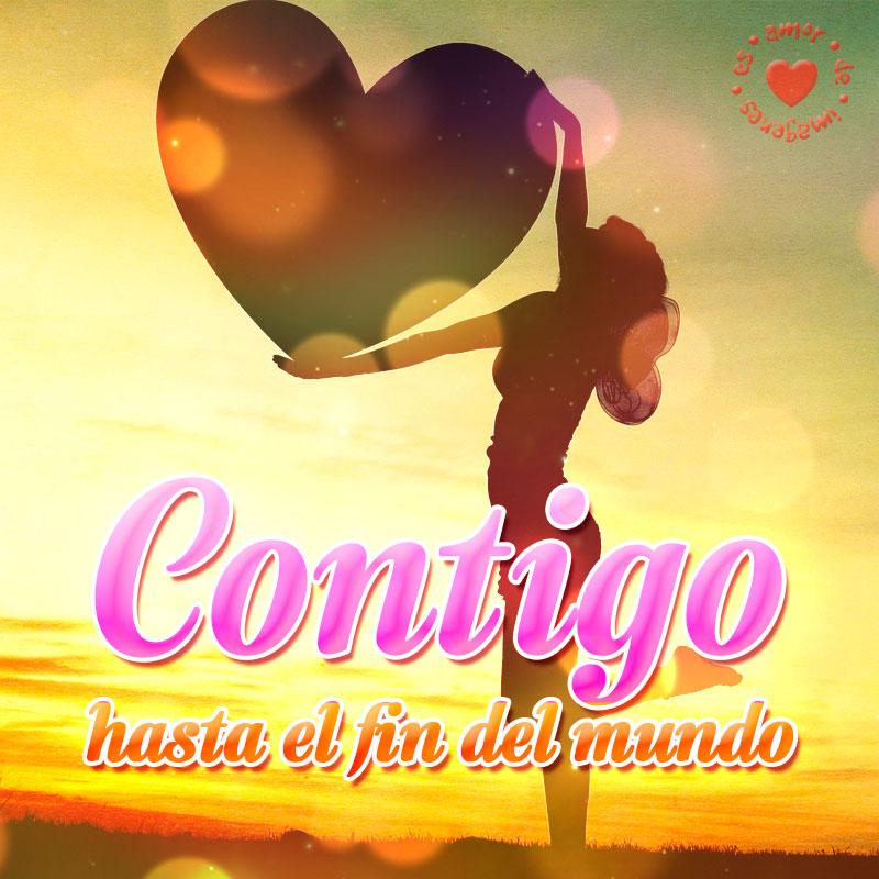 Linda Imagen De Corazon Con Frase De Amor