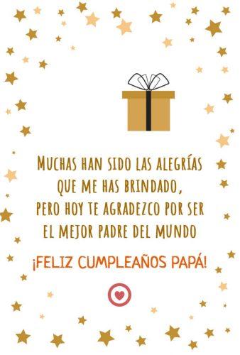 lindo mensaje de cumpleaños para papá