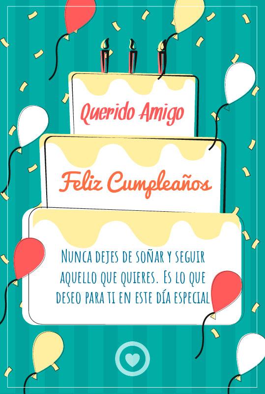 mensaje de cumpleaños para mi amigo
