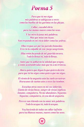 70poemas De Amor Cortos Poesías Versos Neruda