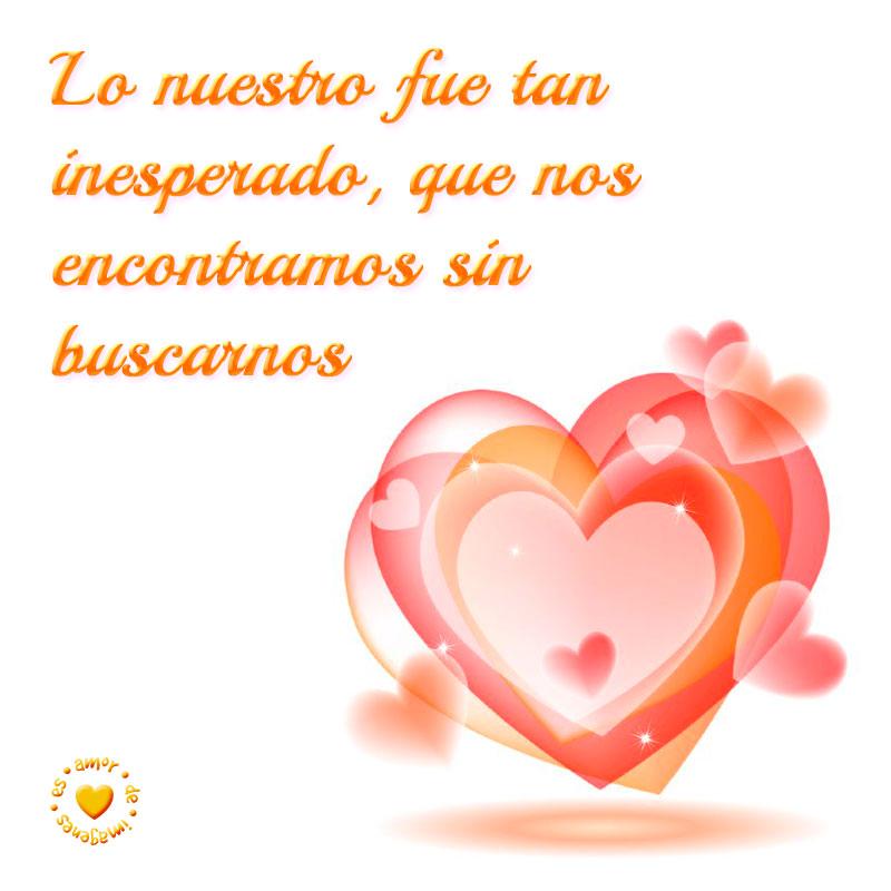 preciosa imagen de corazones con bonita frase de amor
