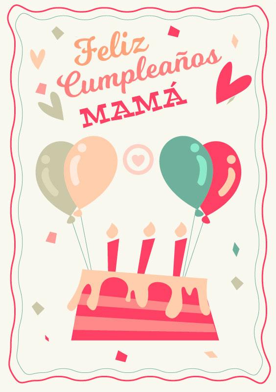 tarjeta de feliz cumpleaños mamá