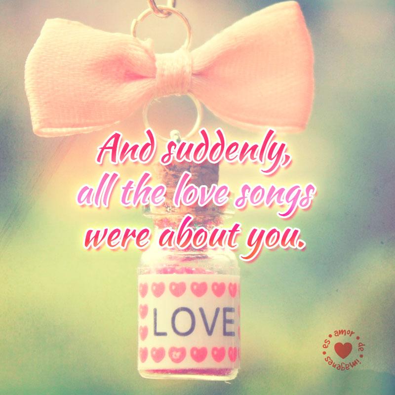 tierna foto de amor con bonita frase en inglés para enviar