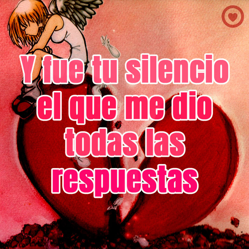Triste Frase De Amor Con Imagen De Corazon Roto