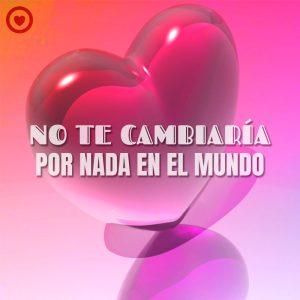 bonita imagen de corazón 3d con frase de amor