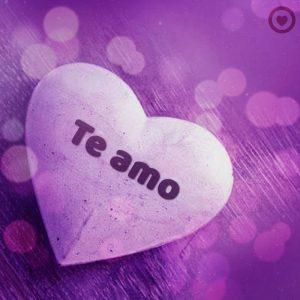 bonita imagen de corazón con frase te amo