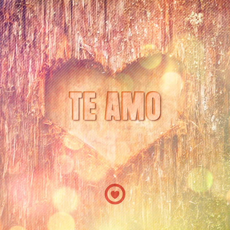 bonita imagen de corazón en árbol con frase te amo