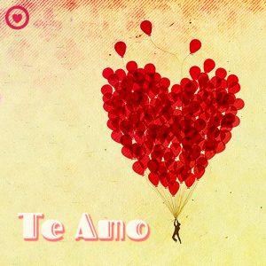 bonita imagen de globos corazón y frase te amo