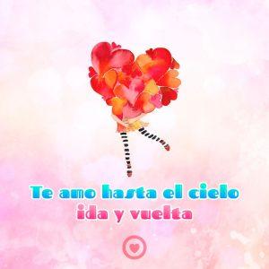 bonita tarjeta de corazones con frase te amo