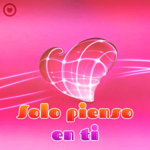 bonito corazón 3d con linda frase de amor corta