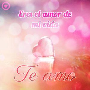bonito corazón con frase te amo