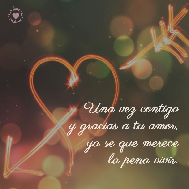 Bonito Corazon Iluminado Con Frase De Amor Para Dedicar