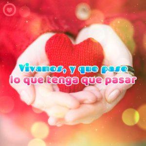 bonito mensaje de amor con foto de corazón rojo