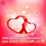 bonito mensaje de amor corto con imagen de corazones rojos