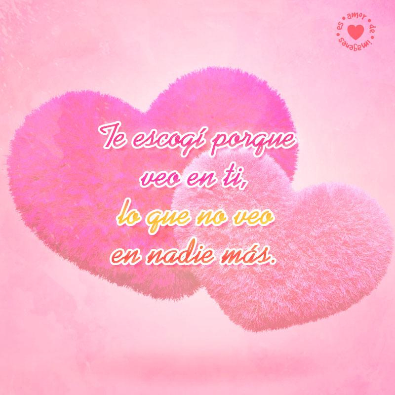 hermosos corazones rosados con bonita frase de amor para