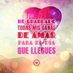 imagen de corazón rojo globo con frase de amor
