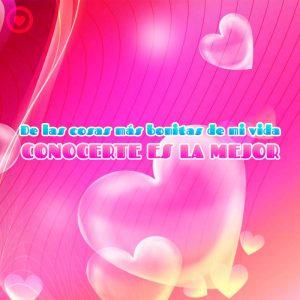 postal de corazón 3d con frase de amor