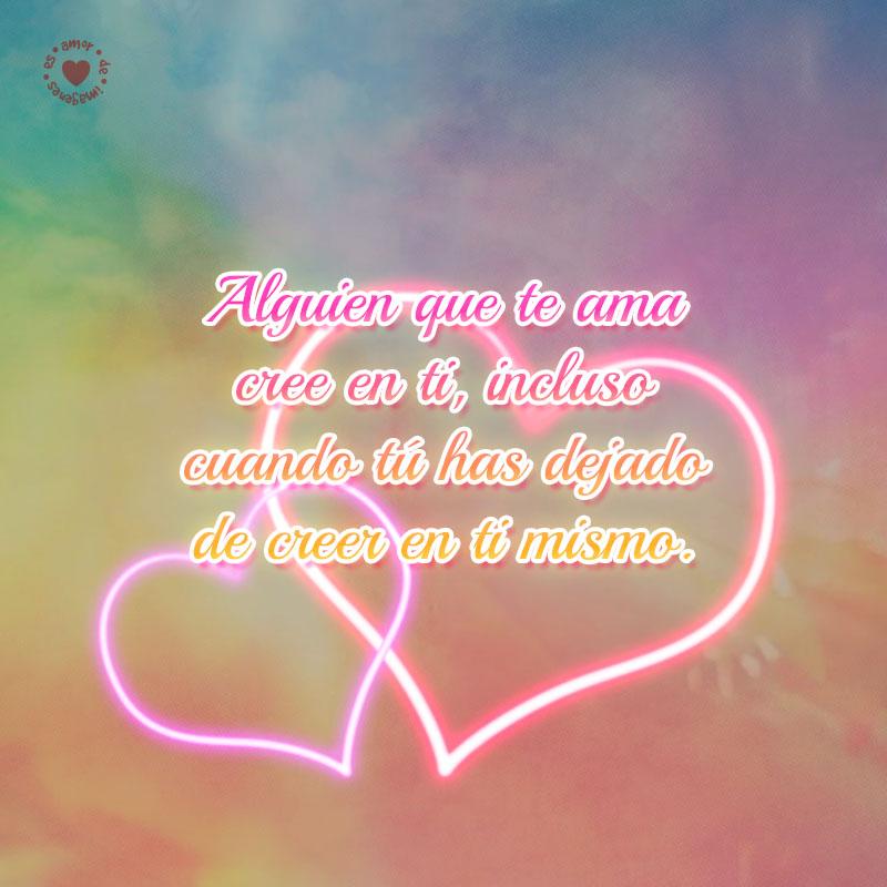 Romanticos Corazones Iluminados Con Bonita Frase De Amor Gratis
