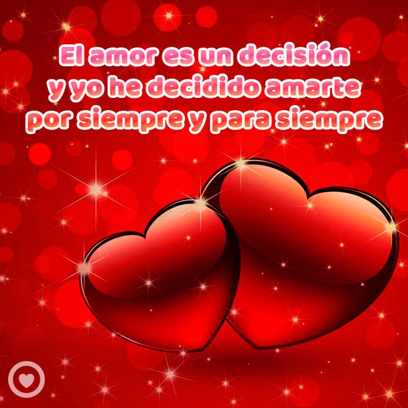 tarjeta de amor con corazones rojos