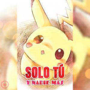 pikachu kawaii con frase de amor