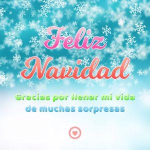 bonita tarjeta de navidad de amor