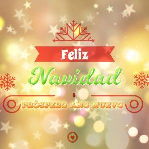 bonita tarjeta de navidad y prospero año nuevo