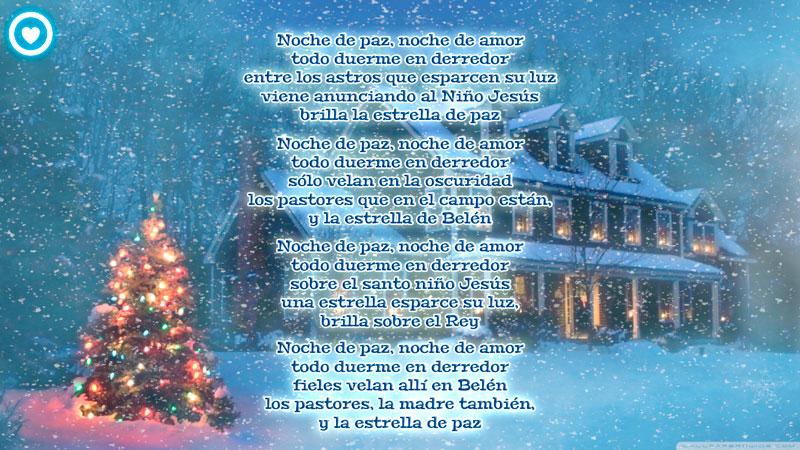 imagen de navidad con cancion noche de paz