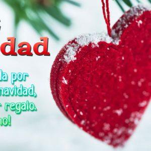 tarjeta bonita de navidad de amor
