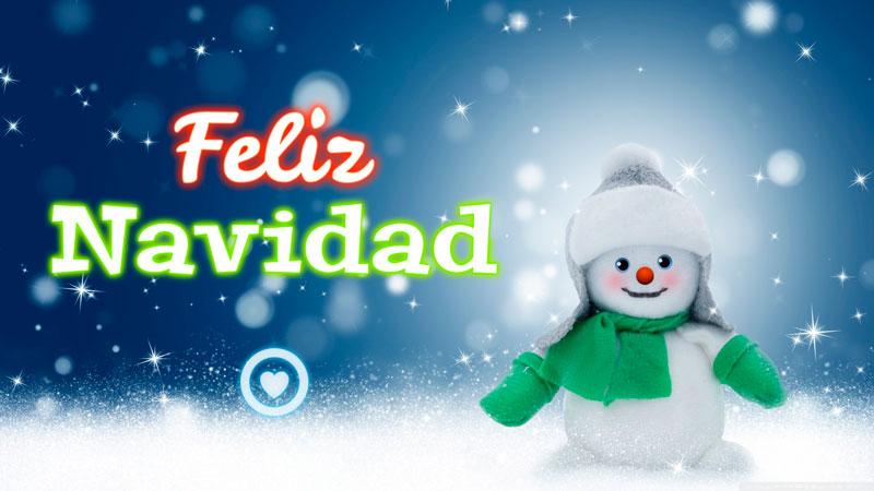 tarjeta de feliz navidad con hombre de nieve