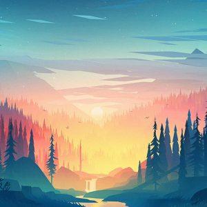 bonita imagen de lago para fondo de pantalla