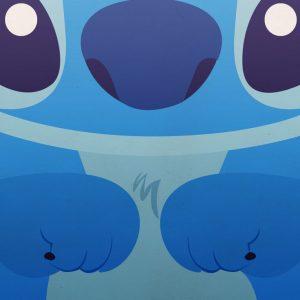 bonito fondo de pantalla de celular de stitch