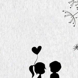 fondo de pantalla de celular de pareja con globo corazón
