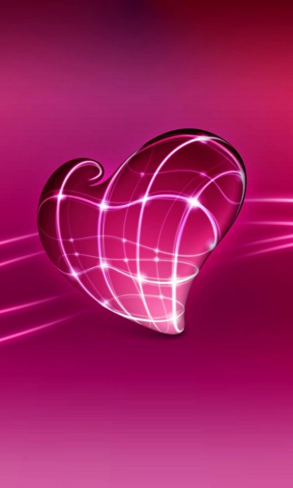 fondo para celular de corazón 3d