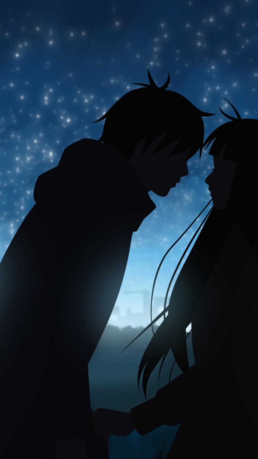 lindo fondo para celular de pareja anime