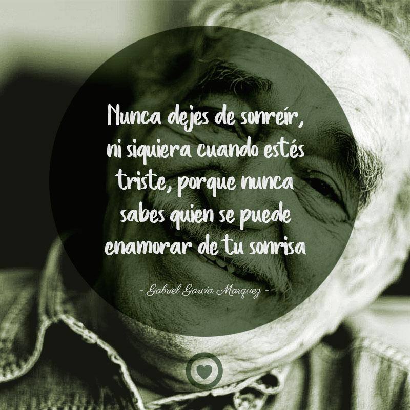 Bonita frase célebre de amor de Gabriel García Marquez