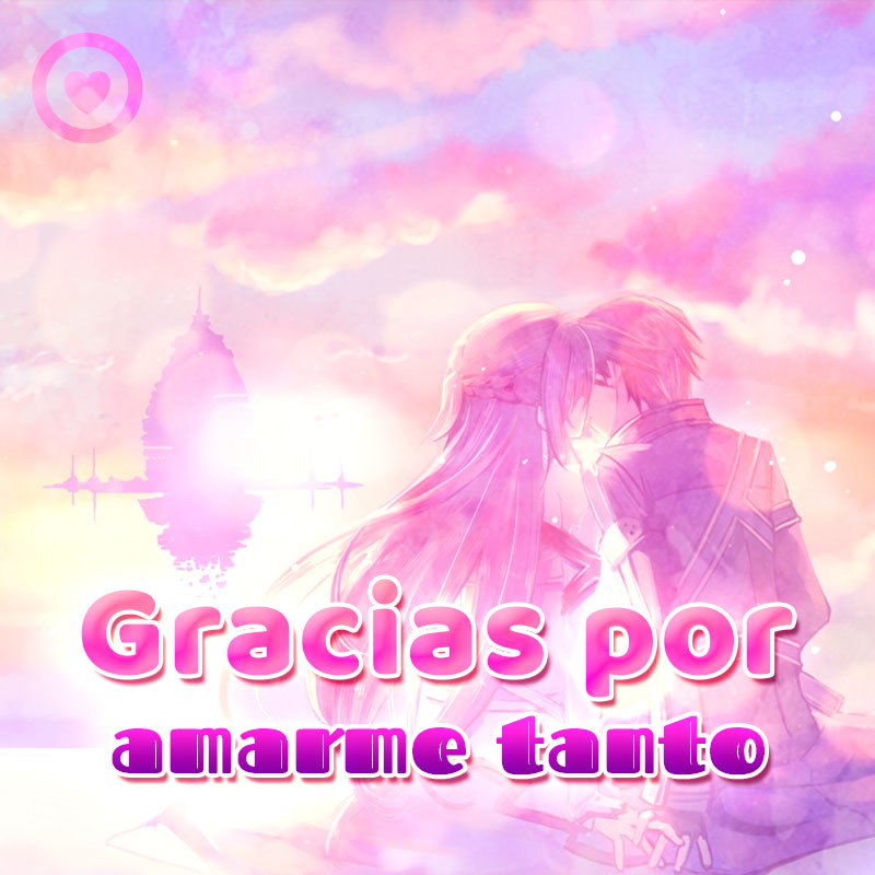 Bonita imagen de anime de amor para compartir