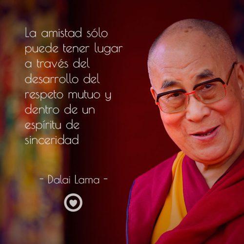 Frase célebre de amistad de Dalai Lama