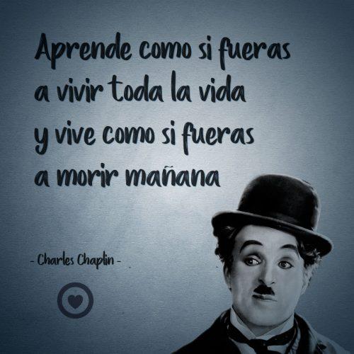 Frase célebre de vida de Charles Chaplin